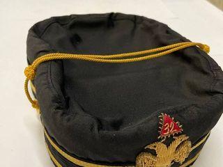 Men s 7 5 Vintage Double Headed Eagle Free Mason 32 degree cap