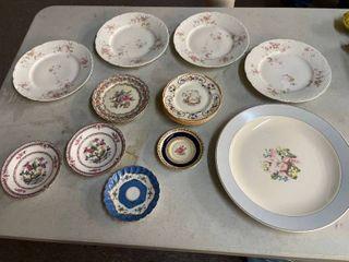 11  Misc Decorative Plates   Good Hallmarks on Some