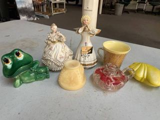 Misc Figural lot including Schmid Musical Angel   Beautiful Tune