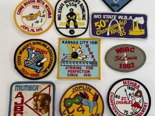 10  Bowling Patches lot  6