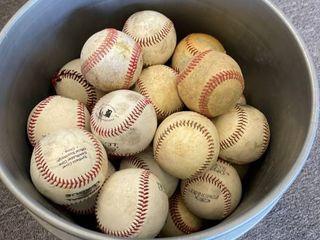 5 Gallon Bucket of little league Baseballs