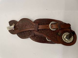 JP Chumbley Hand Tooled Spur Straps  4
