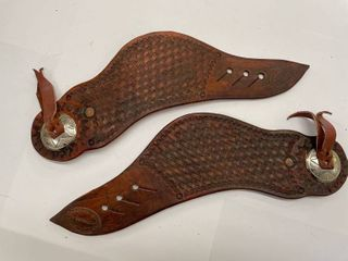 JP Chumbley Hand Tooled Spur Straps  5