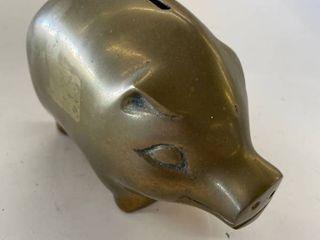 Brass piggy bank