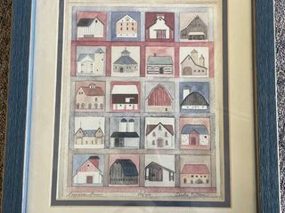 Signed Print  American Barns  by Sandra Peterson