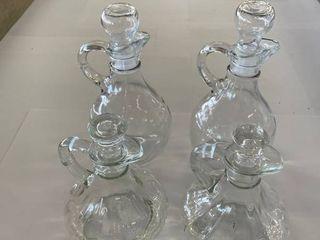 2  Sets Vinegar and Oil Cruets
