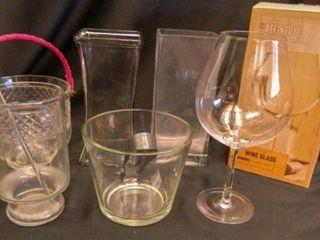 Glass Ice Buckes  Vases