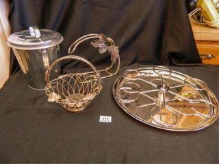 Metal Decor Pieces  Basket
