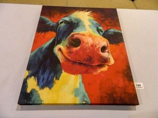 Cow Print on Stretched Canvas