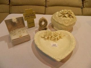 Religious Pieces  Heart Shaped Box
