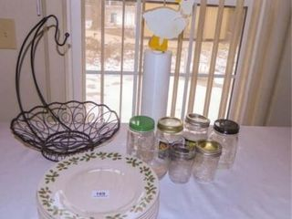 Christmas Plates  Fruit Basket