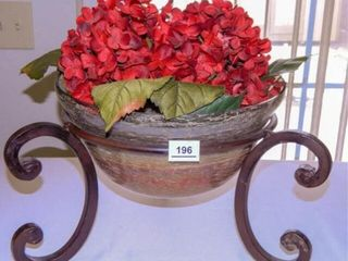 Metal Glass Floral Container