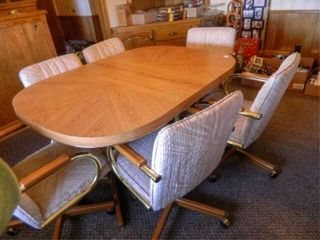 Formica Dining Table   6 Chairs