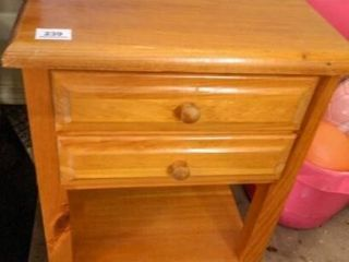 Wooden Table w 2 Drawers