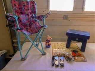 Child s Chair  Plastic Bench