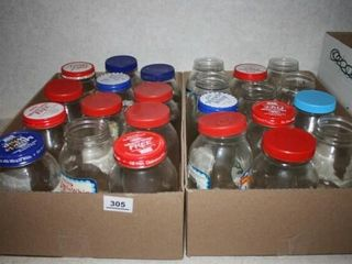 Glass Jars Mostly Mayonnaise Jars