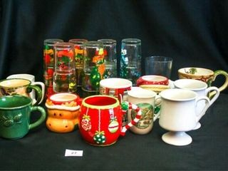 12 Days of Christmas glasses mugs