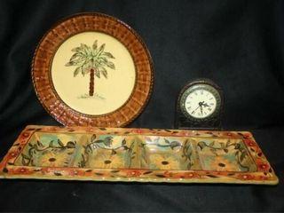 Decorative Ceramic Tray and Plate
