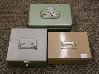 Metal Money Boxes with Keys