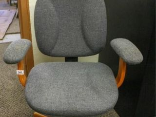 Rolling Office Chair  Blue Material
