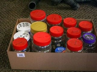 Jars and Containers with screws and shop odds and