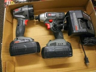 Porter Cable Cordless Flashlight and Drill