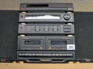 GPX AM FM Dual Cassette Player with 2 speakers