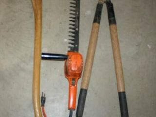 Hatchet  Hedge Trimmers  loppers