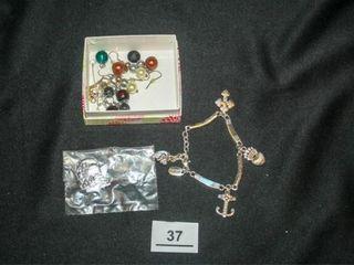 Bracelet  earrings  Watering Can Pin