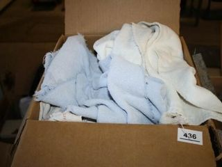 Box of scrap rags and towels