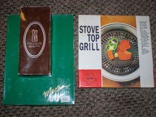 S P Mills  Maxam Knife Set  Stove Top Grill Plate