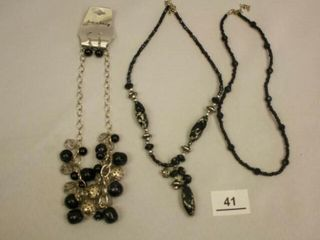 Black and Silver Costime Jewelry