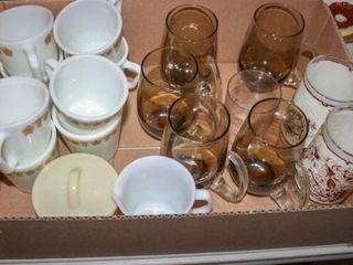 Glassware  Fireking Mugs  Fireking Cream Sugar