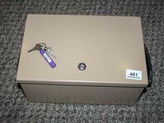 locking Metal Box with Key