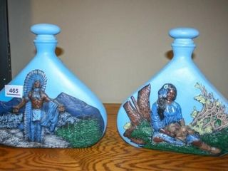 Cermic Native American Style Vases with lids