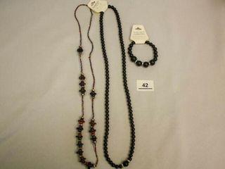 Black Necklace Multi color necklace