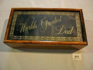 World s Greatest Dad  keepsake jewelry Box