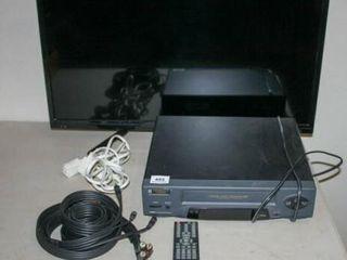 Hisense TV  32  VCR  AV Cords
