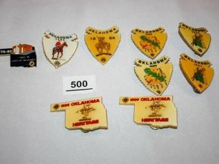 lions Club Oklahoma Pins  Arrowheads  Oklahoma Sha