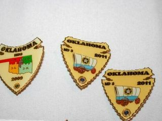 lions Oklahoma Pins  MD3 and MD3A  55 years servic