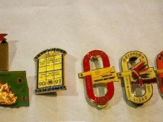 lions Club Pins   O  Shaped 1991 93