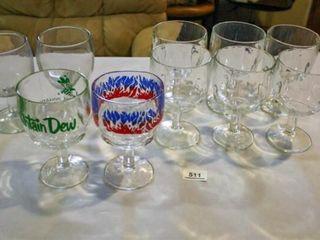 Bar Glasses  10  Mountain Dew