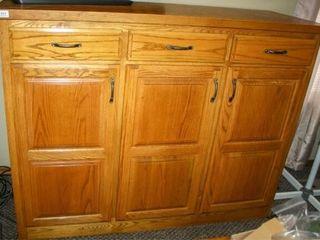 Custom Built Cabinet  Oak