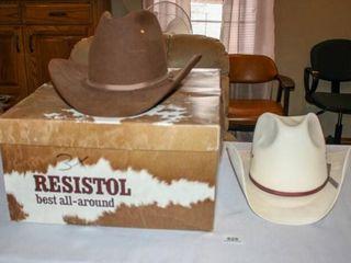 Resistol Mink Hat Size7 in box  White Cowboy Hat 7