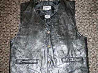 Black leather Vest Medium