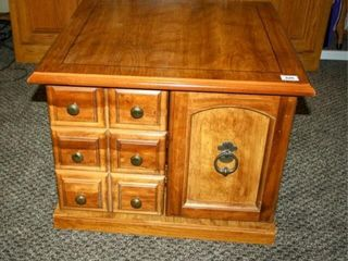 Side Table with storage  Both Doors open