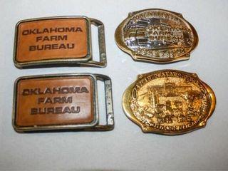 Oklahoma Farm Bureau Belt Buckles