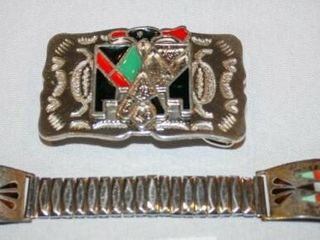 Decorative Belt Buckle with matching watch band