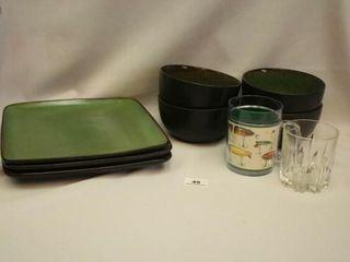 Green Dinnerware  Bowls  Plates