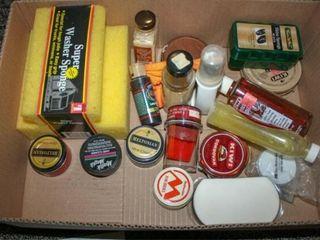 Shoe shine items  wax polish